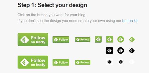 elegir botón feedly